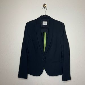 LOFT Black Button Career Blazer Jacket
